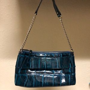 Kate Spade patent leather bag blue